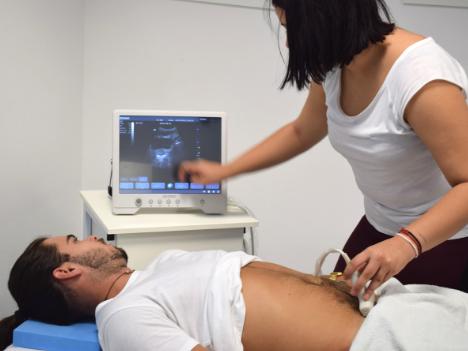Na diagnostiku svalov panvového dna používame aj moderný diagnostický ultrazvuk SONO Q3.
